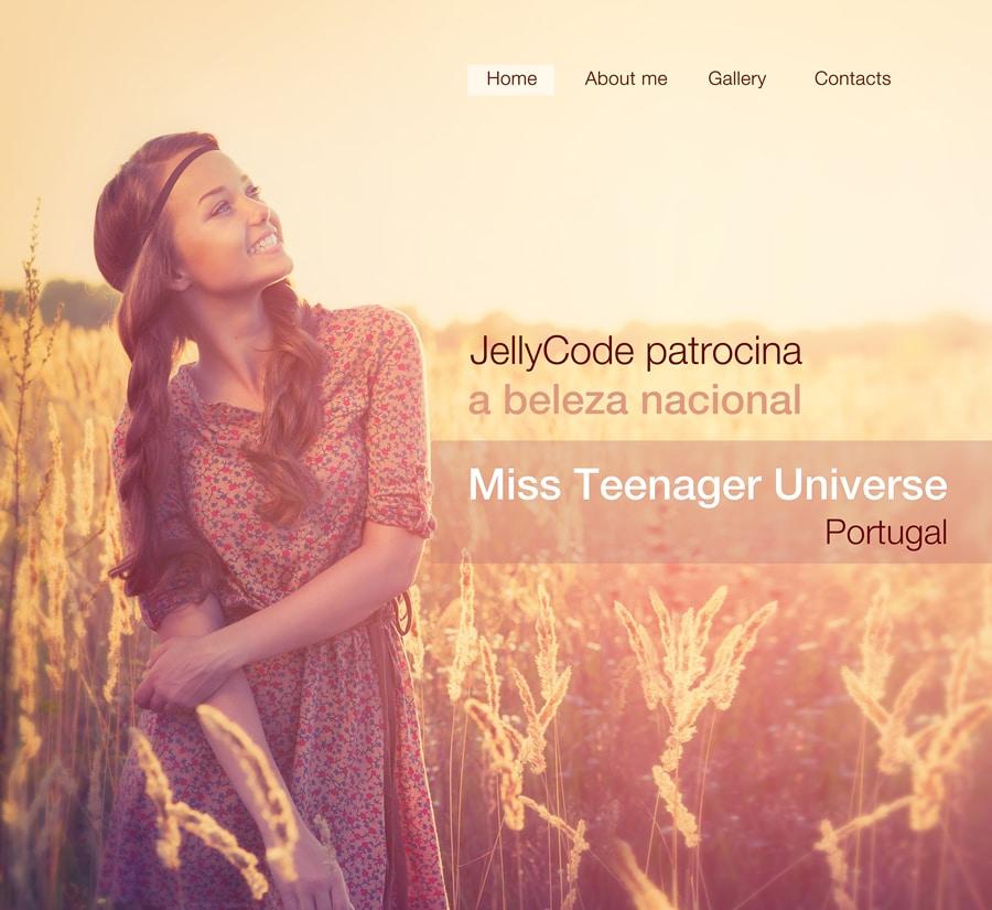 Miss Teenager - patrocínio JELLYCODE