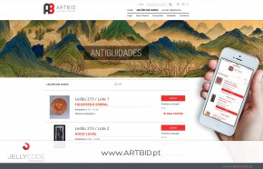 Artbid - website re-design