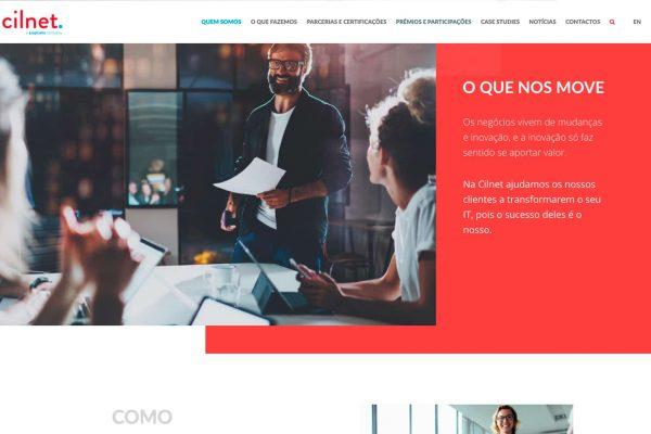 """CILNET website """"Sobre nós"""""""