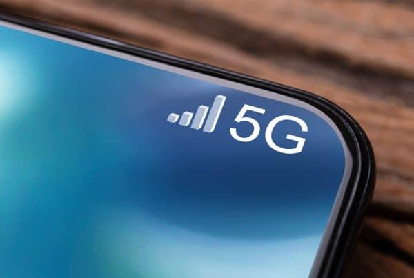 imagem de um smartphone com 5g