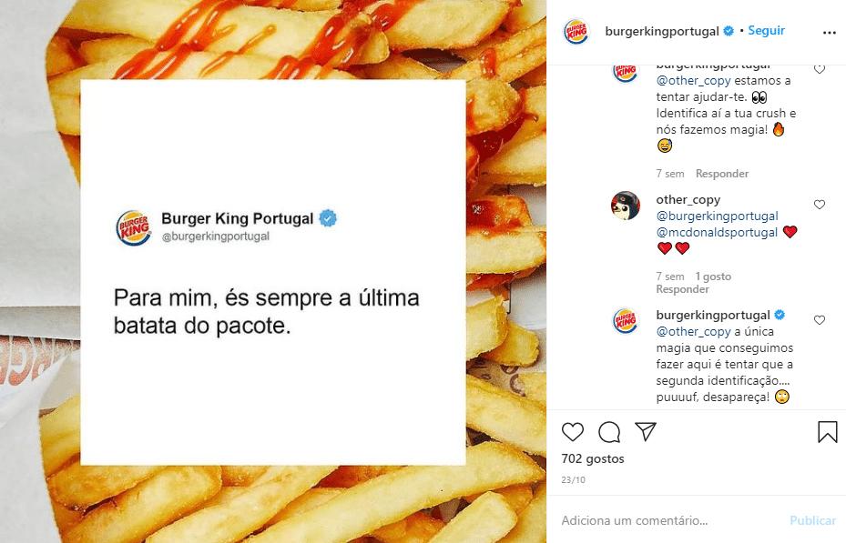 resposta do burger king no facebook ao seguidor