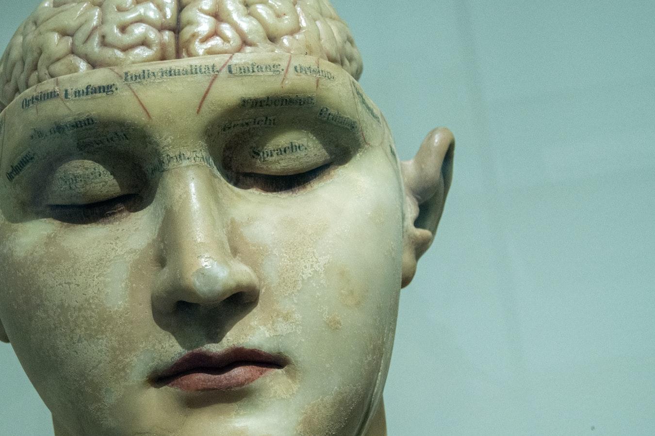 escultura homem com Cérbero à vista