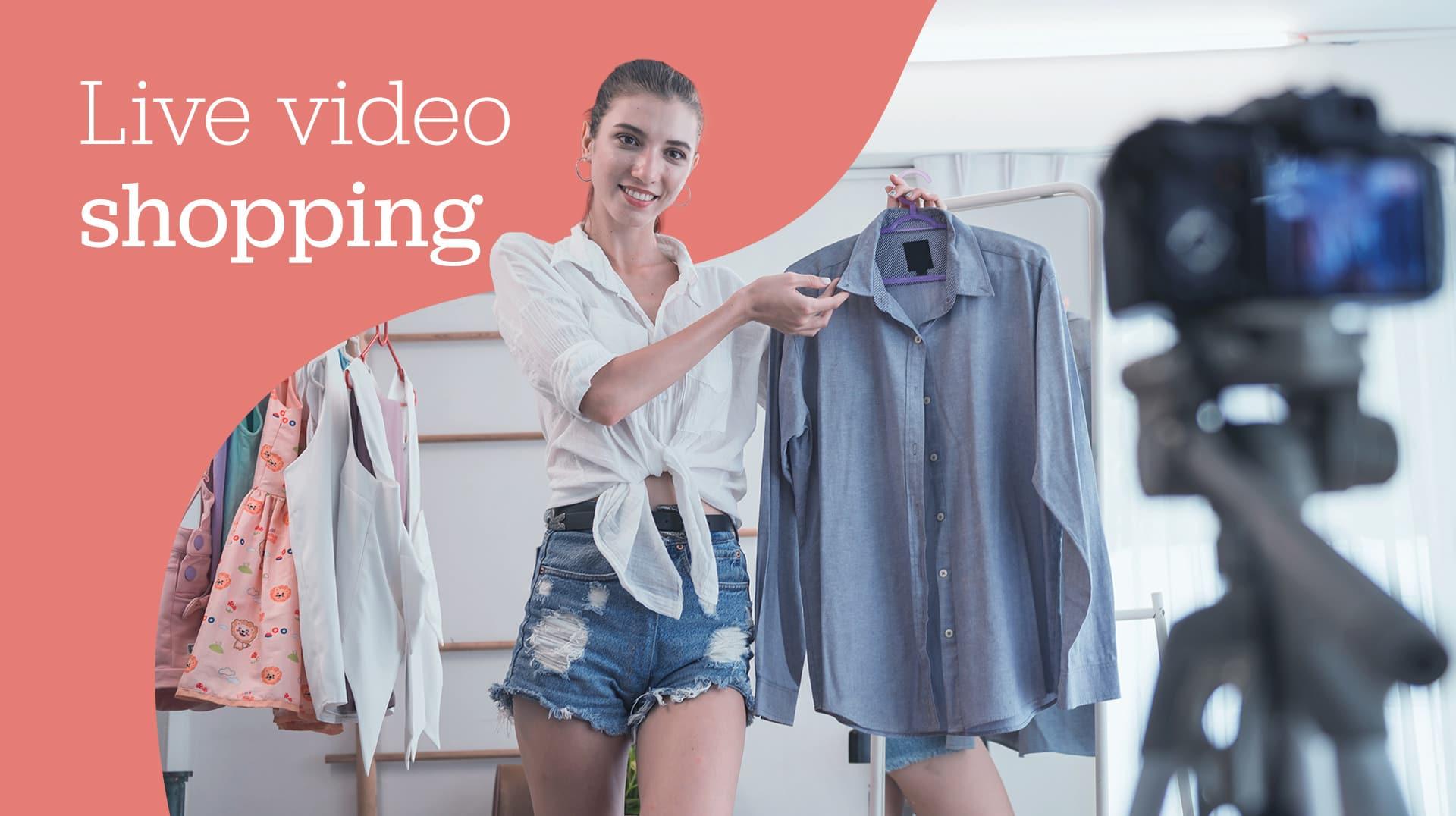 Influenciadora em live shopping