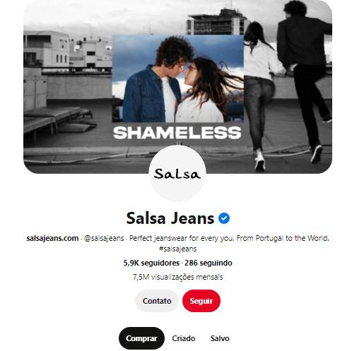 perfil salsa jeans pinterest