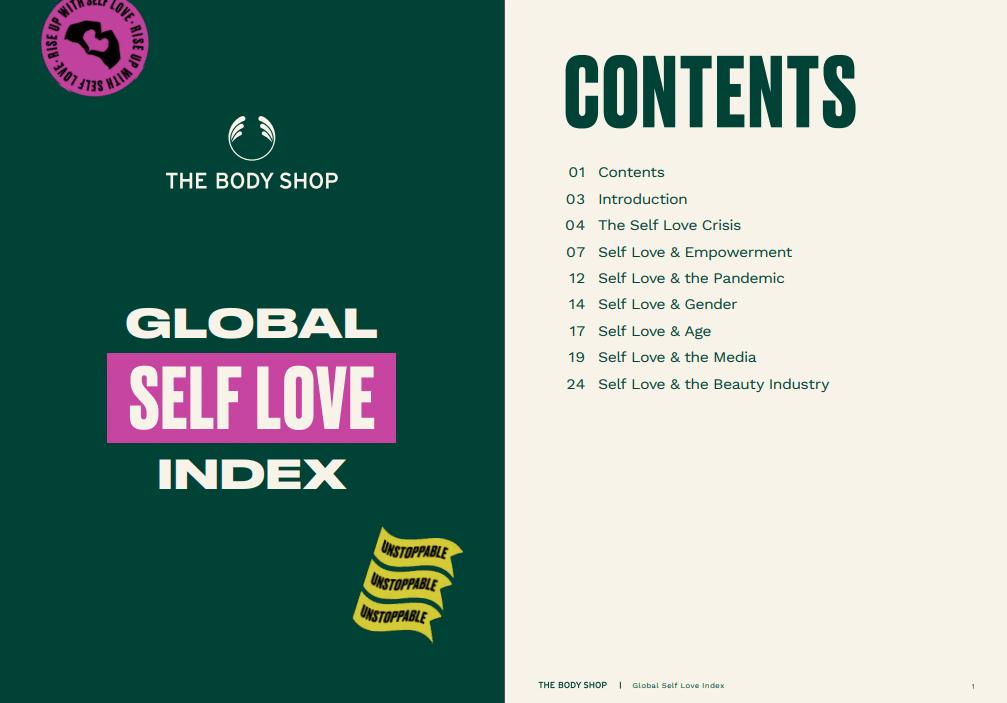 "estudo ""global self love index"" da bodyshop"
