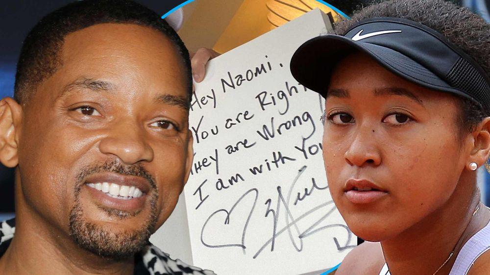 Will Smith a apoiar Naomi Osaka