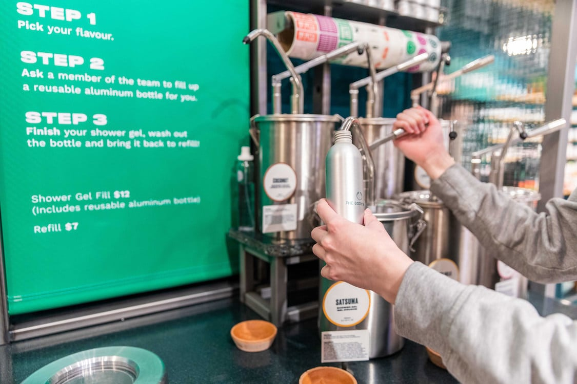 Body Shop CF Pacific Centre Refill Station (CNW Group/The Body Shop)