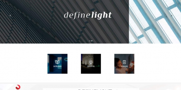 DEFINE LIGHT - criação de website